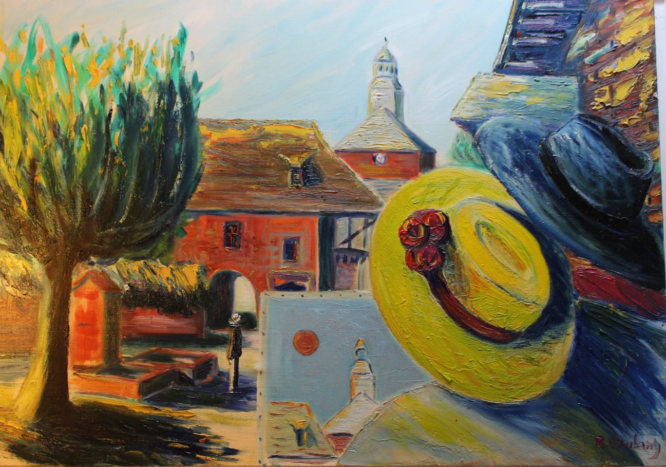 The artist and his muse, place de la fontaine