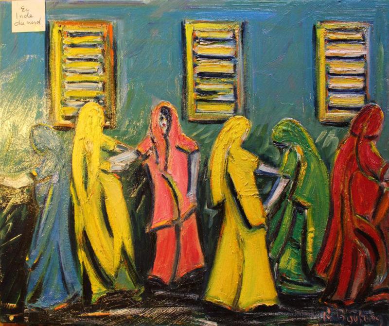 L'Inde. Cinq danseuses d'Ahmadbad