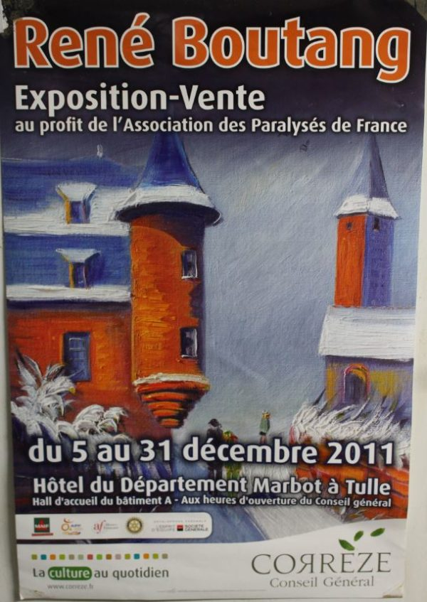 The exhibit and sale René Boutang Paralysés de France