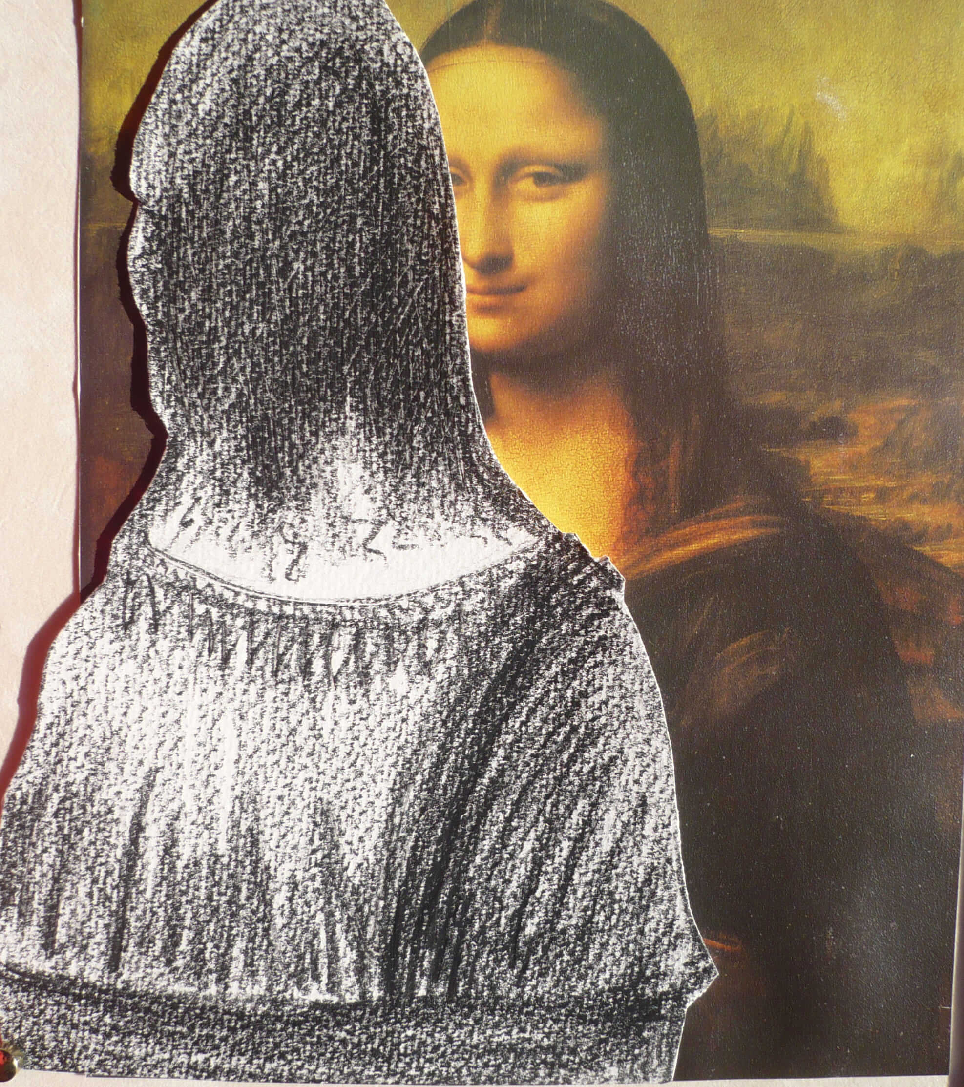 René, the first in the world to paint her from the back !