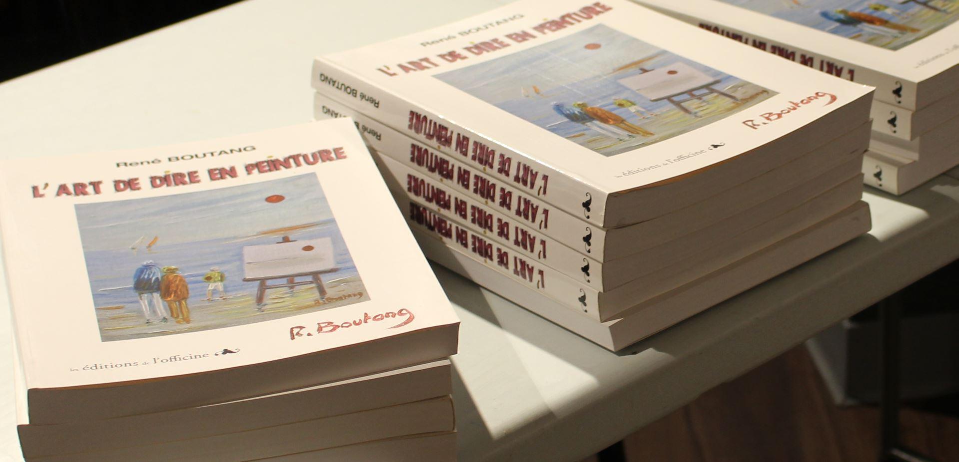 Book written by René Boutang l'Art de dire en peinture