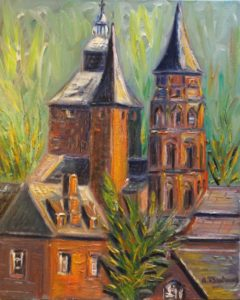 Collonges-la-Rouge and its three bell towers