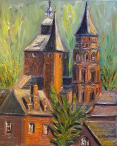 Collonges-la-Rouge et ses trois clochers