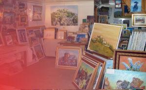 Atelier de peinture René Boutang à Collonges la Rouge Corrèze France