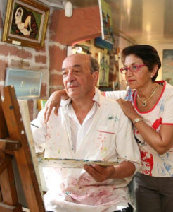 The painting Studio René Boutang Collonges-la-Rouge