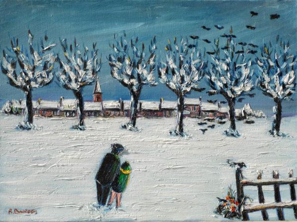 À deux dans la neige