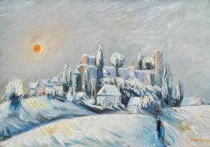 Vente œuvre d'art René Boutang Collonges la Rouge Neige fraîche et vicomté
