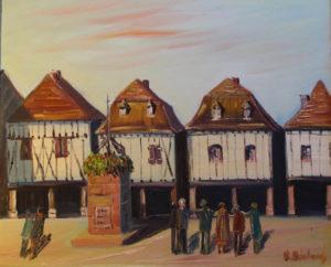 Vente œuvre d'art René Boutang Collonges la Rouge La ronde de Bretenoux- Lot