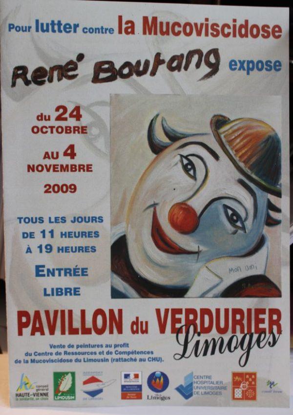 Affiche René Boutang expose pour lutter contre la mucoviscidose