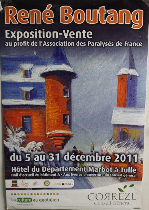 The exhibit and sale René Boutang Paralysés de France