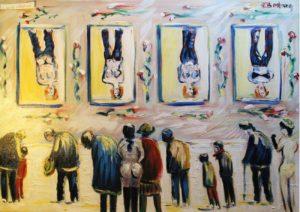 Vente œuvre d'art René Boutang Collonges la Rouge Le froid ne fait rien à l'affaire !
