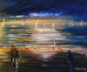 Artwork for sale René Boutang Collonges la rouge The sky, the sea, the land and us poor fishermen