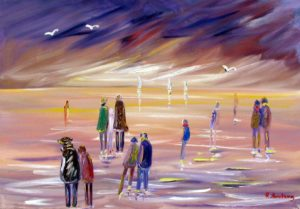 Vente œuvre d'art René Boutang Collonges la Rouge Les bords de mer