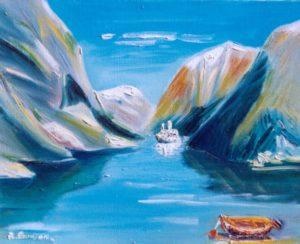 Vente œuvre d'art René Boutang Collonges la Rouge Norvège