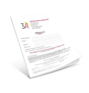 Formulaire d'adhésion 3A Association des Arts et des métiers d'Art Collonges la Rouge