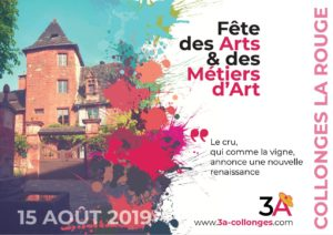 Catalogue cover Arts Festival 2019 Collonges la Rouge