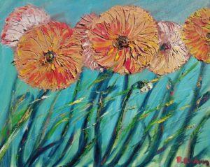 Vente œuvre d'art René Boutang Collonges la Rouge Fleurs en tête