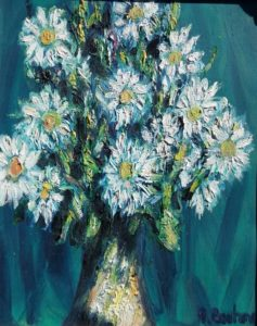 Vente œuvre d'art René Boutang Collonges la Rouge Fleurs de chez nous