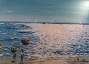 Vente œuvre d'art René Boutang Collonges la Rouge Vibrations sur le bassin d'Arcachon