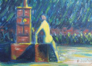 Vente œuvre d'art René Boutang Collonges la Rouge Fontaine, je boirai de ton eau