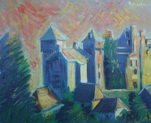 Artwork for sale René Boutang Collonges la rouge Curemonte in Corrèze