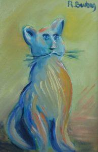 Artwork for sale René Boutang Collonges la rouge The neighbour's cat