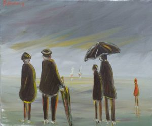 Artwork for sale René Boutang The wait by the sea