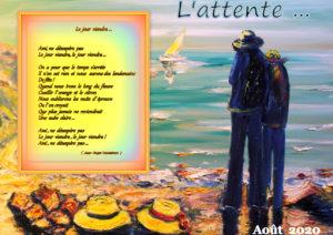 Montage Christian-Desbands.- interprétation-personnelle - Alliance de touches de mots et de peinture