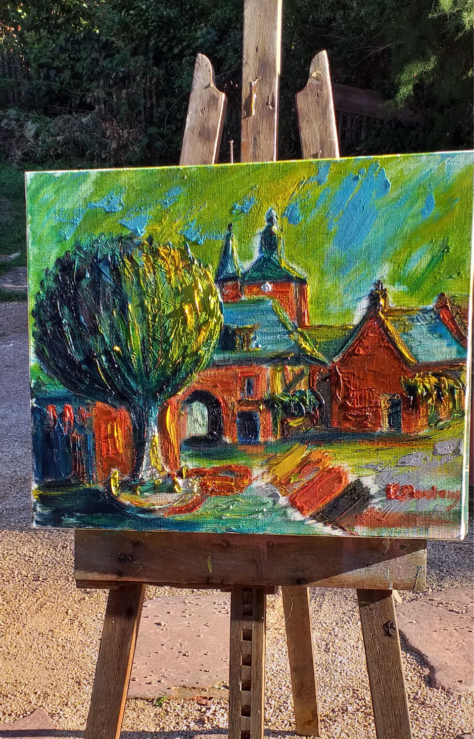 Vente peinture Parlons des rouges de Collonges René Boutang Collonges-la-rouge