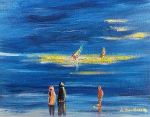 Vente peinture Lumière éclatante René Boutang Collonges-la-rouge