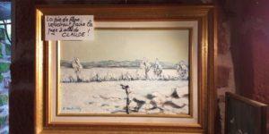 Artwork for sale René Boutang Collonges la rouge Snowy landscape of la plaine de Saint Denis