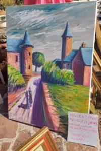 Annonce de printemps atelier de peinture René Boutang Collonges-la-rouge