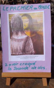 René Boutang Le premier au monde à avoir croqué la Joconde de dos