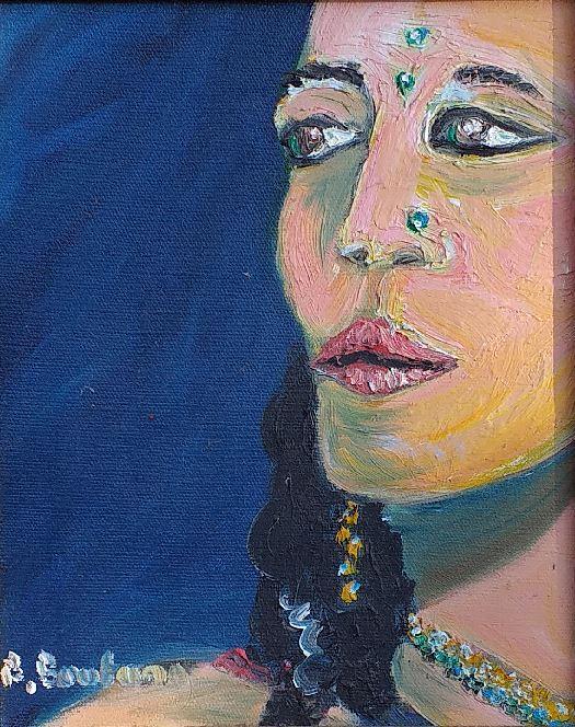 Artwork for sale René Boutang Collonges la rouge An Indian woman