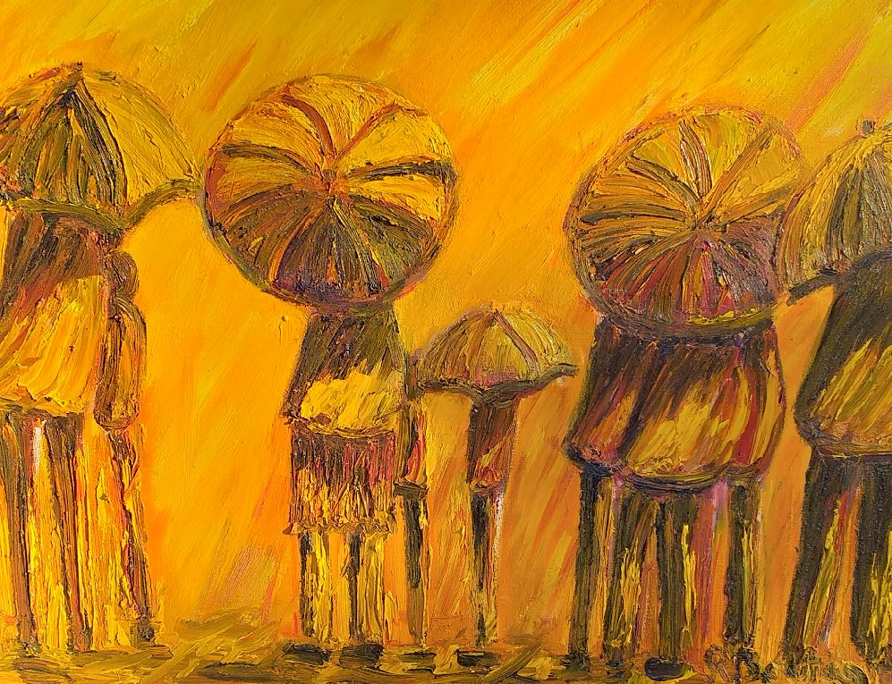 Vente œuvre d'art Soleil et pluie René Boutang Collonges la Rouge