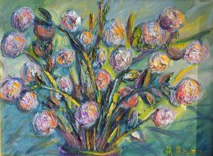 Artwork for sale René Boutang Collonges la rouge Fantastic bouquet