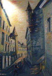 Artwork for sale René Boutang Collonges la rouge Martel en Quercy