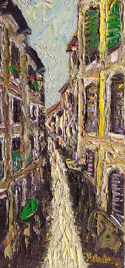 Artwork for sale René Boutang Collonges la rouge Petit canal de Venise Vibrations