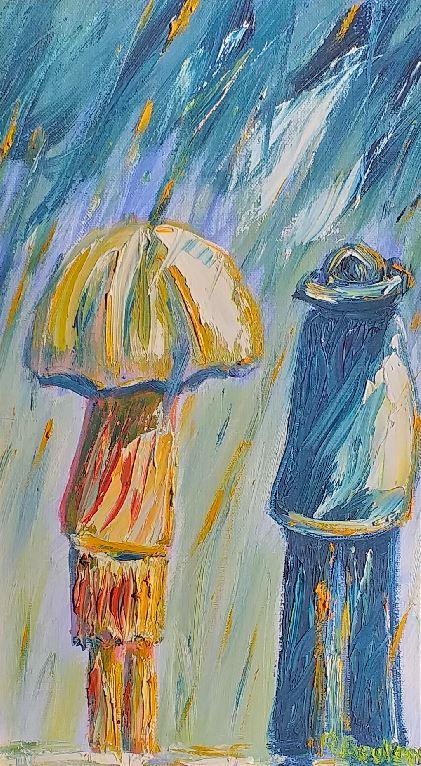 Artwork for sale Bad weather René Boutang Collonges la rouge