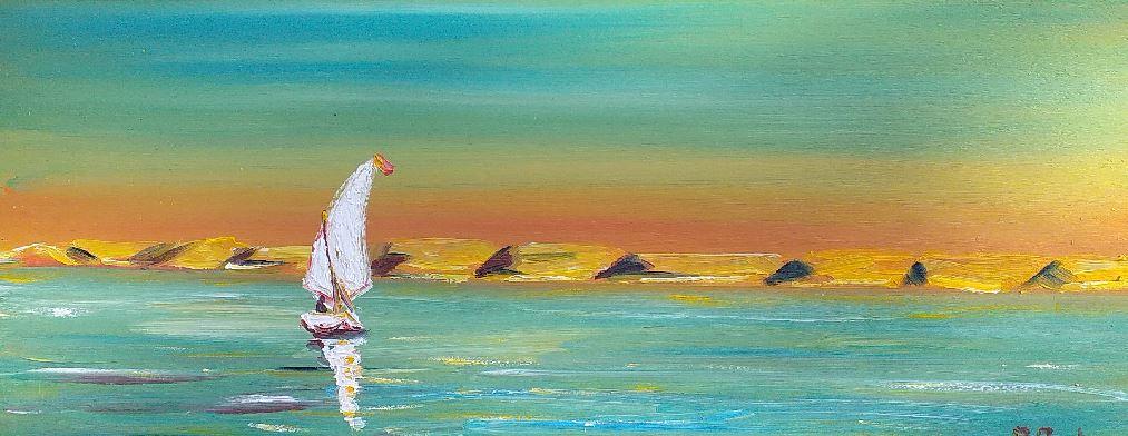 Artwork for sale Corrèze Lake Nasser René Boutang Collonges la rouge