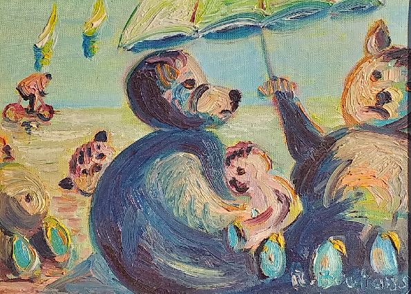 Vente peinture Famille Grosdur René Boutang Collonges la rouge