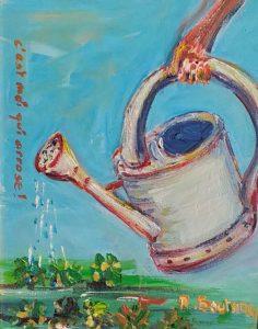 Artwork for sale J'arrose René Boutang Collonges la rouge