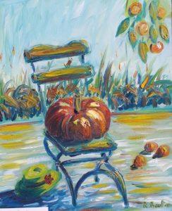 Vente oeuvre d'art de René Boutang Citrouille attendant son carrosse