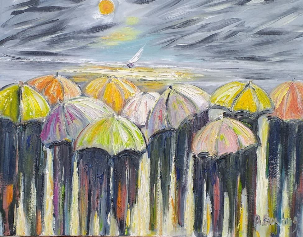 Artwork for sale René Boutang Picardy mushrooms