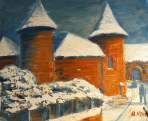Vente huile sur toile René Boutang Collonges la Rouge Une envie de froidure