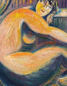 Vente toile René Boutang Juste dans le cadre