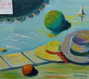 Vente tableau René Boutang le bonheur est où..., je vous le demande!